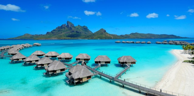 Four Seasons Bora Bora OWB and mountain