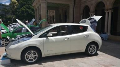 Nissan Leaf belonging to Lesmando - lovely pearly white paint finish.