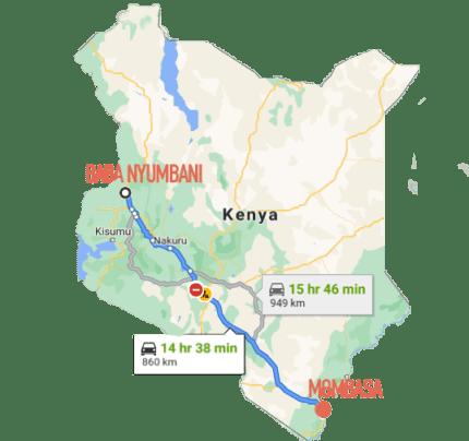 Kitale To Mombasa