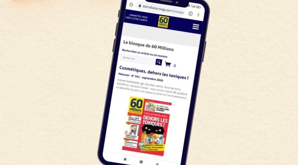 Cosméto'score 60 millions de consommateurs