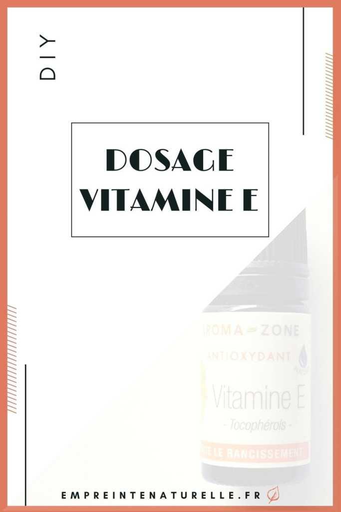 dosage vitamine E