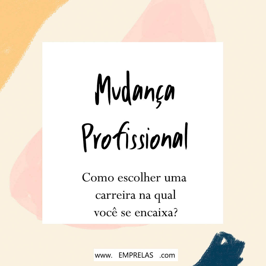 mudança profissional