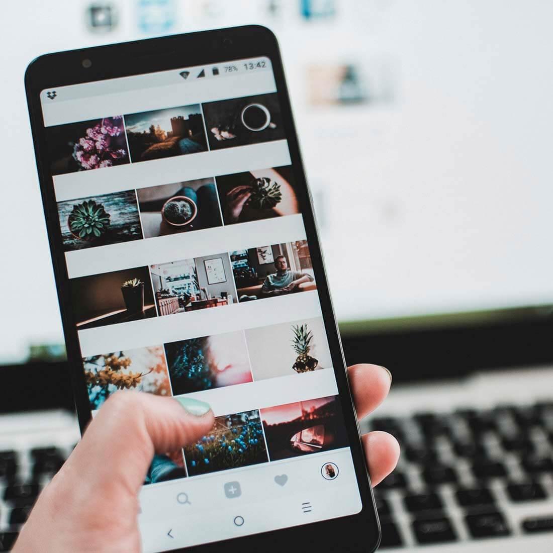 Instagram, no blog, celular
