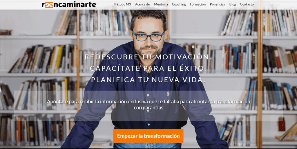 David Garrido Nos Presenta su Proyecto Reencaminarte - Diseño de tu página web