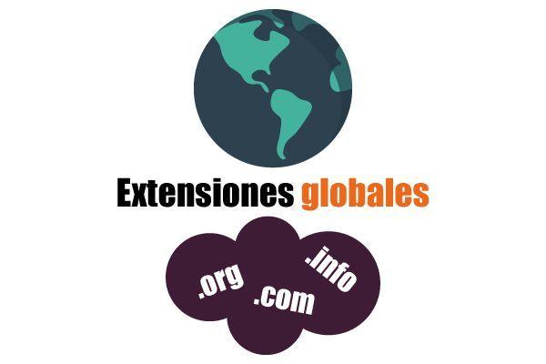 Tipos de extensiones de dominio globales