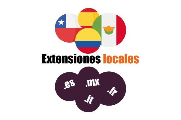 Tipos de extensiones de dominio locales