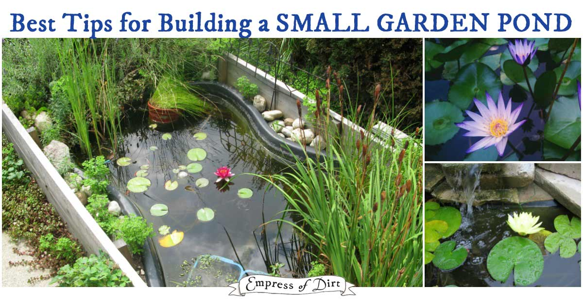 Making Small Garden Pond