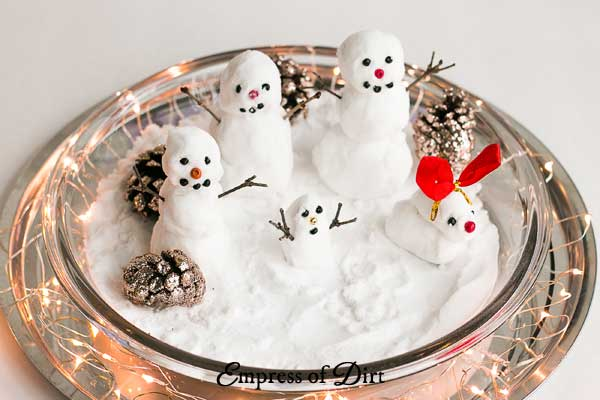 How To Make Fake Snow And Little Snowmen Empress Of Dirt