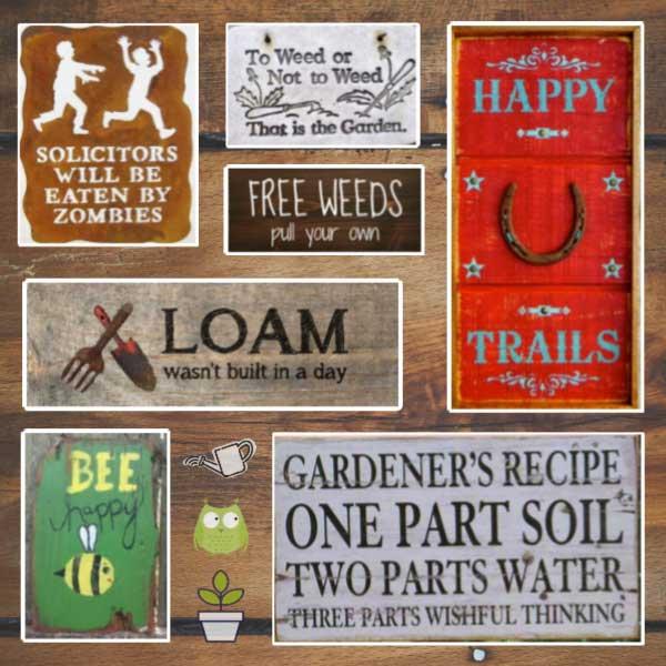 sentimental garden signs