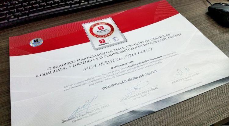 certificado reconhecimento bradesco financiamentos