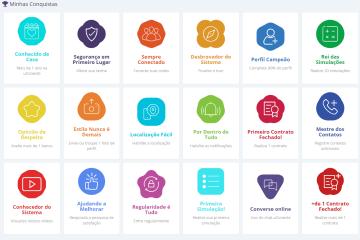 tela com todos os selos disponíveis - novas funcionalidades na uconecte