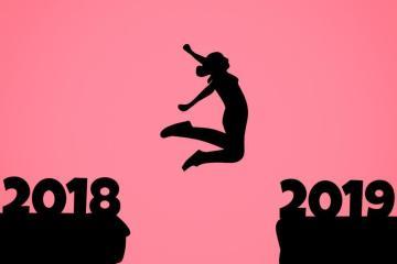 Imagem simbolizando a passagem de 2018 para 2019