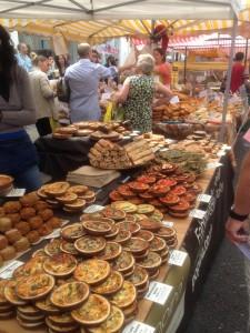 Baked goods at the Portobello Road Market