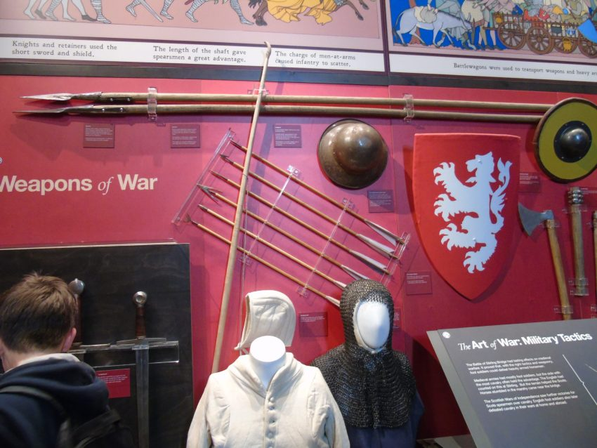 William Wallace Monument Stirling Scotland tourist attraction history armour