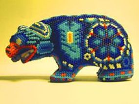 puerto vallarta, huichol art, bead art, crafts, mexico art,