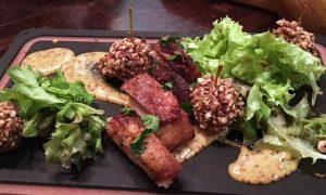 pyramid restaurant, dallas, pork, mini apples, pecans,
