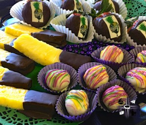 Chocolate Pineapple, Shreveport, sweets, chocolate, chocolate dipped, fruit, Bossier City, woman owned, small business, catering, foodie