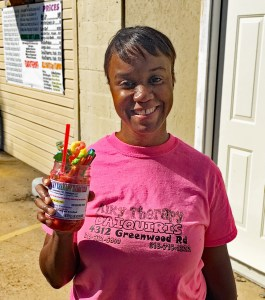 Katina Gosey with Strawberry Lemonade Daiquiri