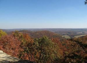 treetop view of Alabama's fall color, Blount County Park