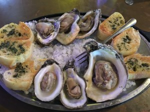 fresh oysters on the half shell from Mamas Oyster House