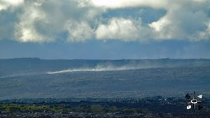 steam vent on the Kalapana lava flow