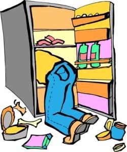 person raiding the refrigerator