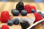 dairy-free keto ice cream with fresh berries