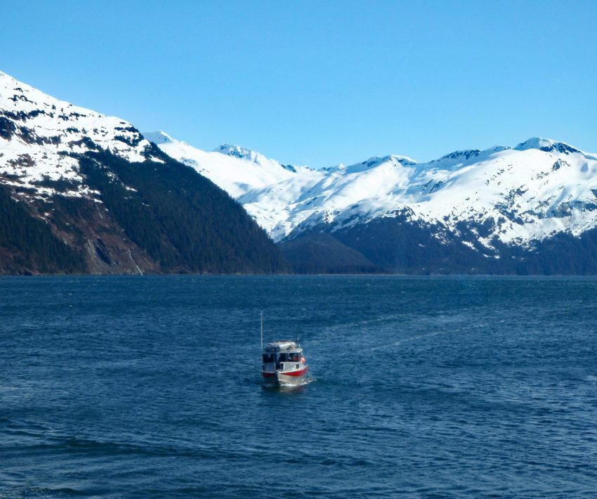 boat sailing in Alaska