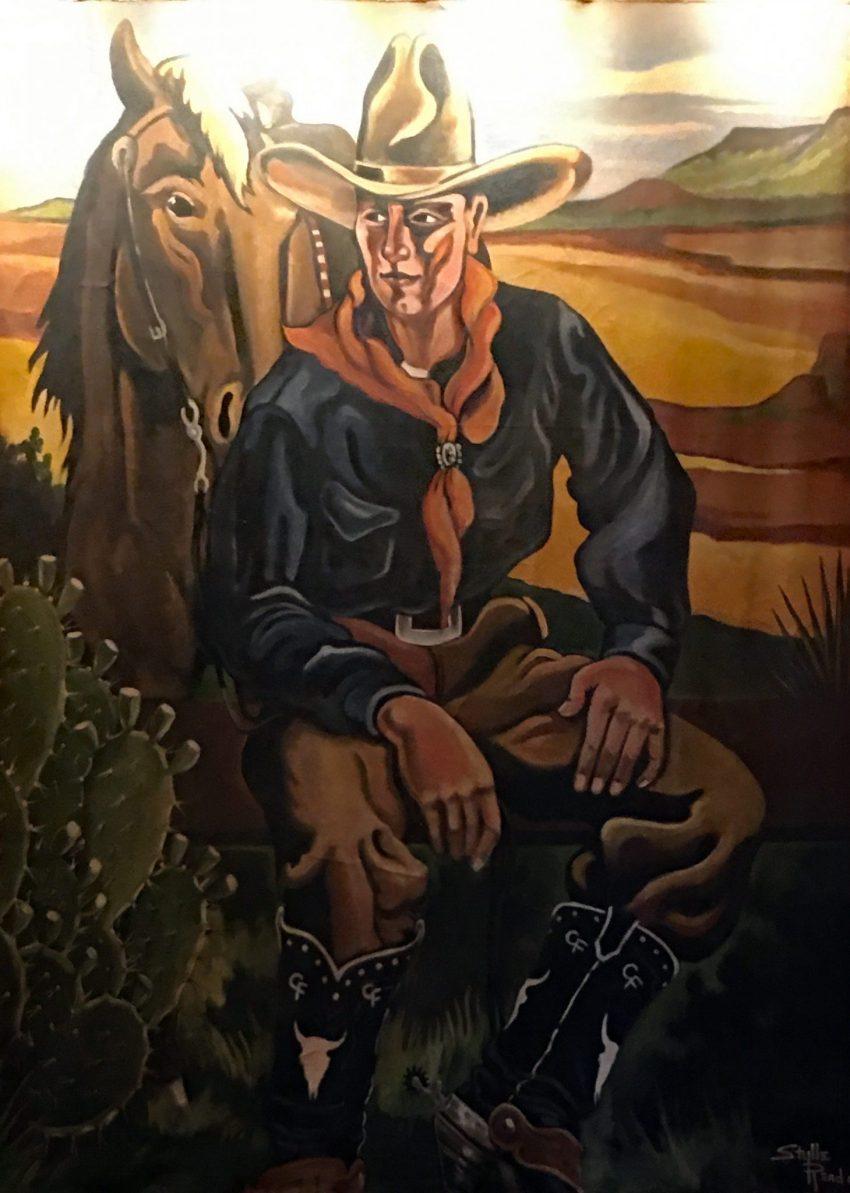 cowboy mural painting