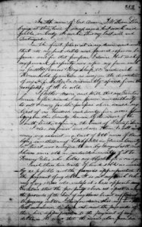 The Will of William Love, Hardin County, Kentucky, 1834