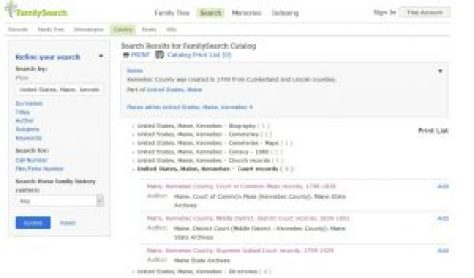 Tip - Searching Maine Court Records on FamilySearch | Empty Branches