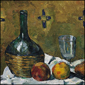 Cezanne still life with flask