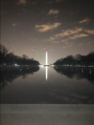 Washington Monument reflecting on the pool