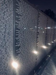 Vietnam Veterans Memorial-names on the wall