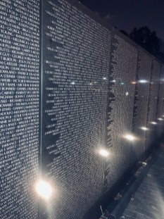 Vietnam Veterans Memorial-names on the wall