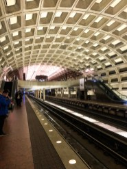 train station, subway, beautiful ceiling, Washington D.C., rainy day, snowy day