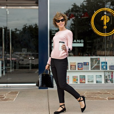 Fashion over 50, fashion over fifty, midlife fashion, midlife style, empty nest, style over 50, midlife dressing, slimming poses, empty nester, empty nesters, empty nest syndrome, empty nest blessed, posing for photos, photo posing hacks, photo posing tricks, photo posing tips, flattering photos, how to take good pictures, good pictures, how to take flattering photos, how to pose for photos, photo posing ideas, ideas for photo poses, ideas for photo posing, look good in pictures, look good in photos, cece bow tie sweater, cece bow tie tee