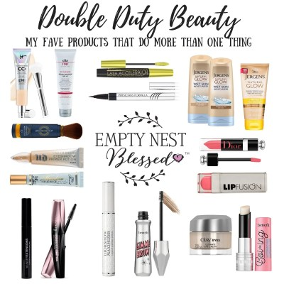 multipurpose makeup, double duty beauty, beauty products that do more than one thing, multi-use makeup, multi-purpose makeup, rimmel lash accelerator mascara, diorshow maximizer 3D, dior lash primer, prysicialns formula eyeliner plus serum, lash growth eyeliner, eyeliner for lash growth, tinted sunscreen, best tinted sunscreen, tinted natural sunscreen, UV physical tinted sunscreen eltamd tinted sunscreen, elta tinted sunscreen, dior lip plumper, lipfusion lipstick, lip plumping lipstick, lash extensions mascara, lash extending mascara, lash staining mascara, lash tint mascara, lash tinting mascara, gimme brow, volumizing brow gel, benefit brow gel, benefit volumizing brow gel, jergens natural glow, jergens natural glow wet skin, olay eyes eye cream, urban decay eyeshadow primer, tinted eyeshadow primer, primer serum, makeup primer and serum, serum and primer, it cosmetics cc cream, it cc cream, cc cream with sunscreen, cc cream with natural sunscreen, moisturizing undereye concealer, moisturizing concealer, mineral sunscreen powder, powder mineral sunscreen, brush on block sunscreen benefit boing, benefit hydrating concealer, shadow insurance, too faced shadow insurance, eyeshadow primer, rimmel colorist mascara, rimmel last tint mascara,