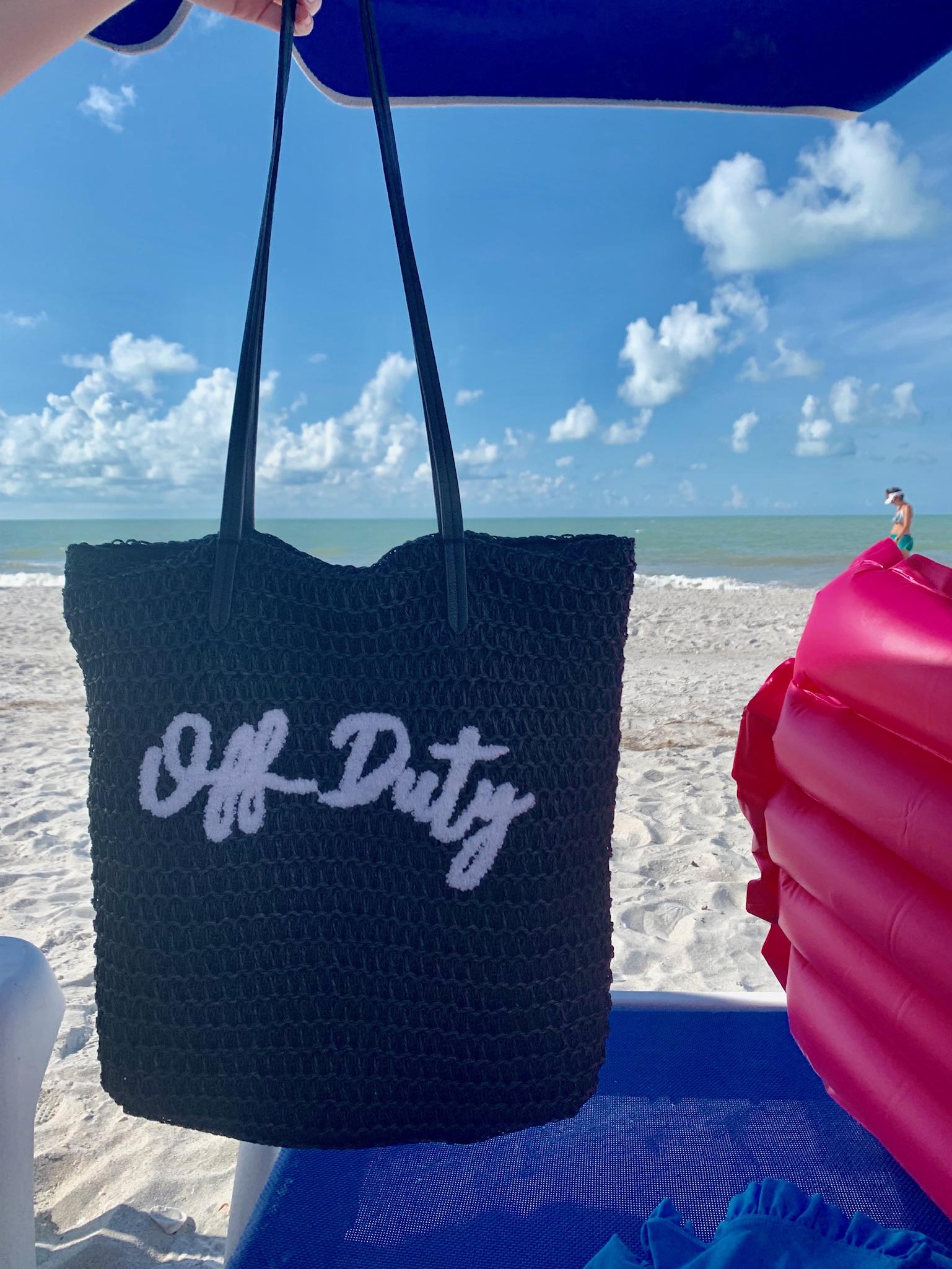 beach bag from sanibel beach trip