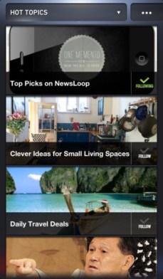 NewsLoop iPhone 2