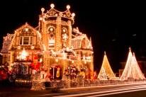 Lighted Christmas House