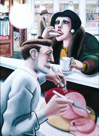 'The Snack Bar', 1930, by Edward Burra