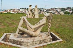 Sculpture by Bassano Vaccarini - Altinópolis, Brazil