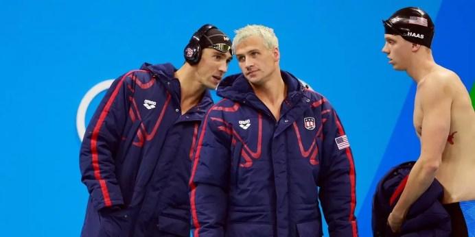 Nadadores de Ouro Americanos na verdade são cara de pau e pé de cana