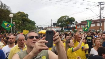 Manifestação deste domingo (30)