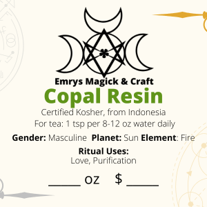 Copal Resin Incense/Tea 1 oz