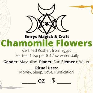 Chamomile Flowers .5 oz