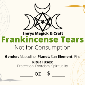 Frankincense Tears Resin 1 oz