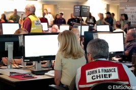 Admin & Finance handle staffing issues within the EOC and track expenses for after the disaster.