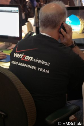 Wireless carriers deploy quick response trucks to reestablish cellular coverage.